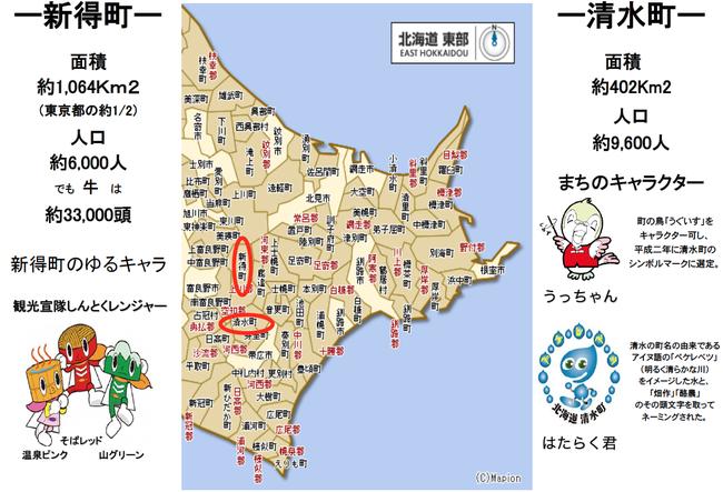 北海道十勝の新得町と清水町のご紹介
